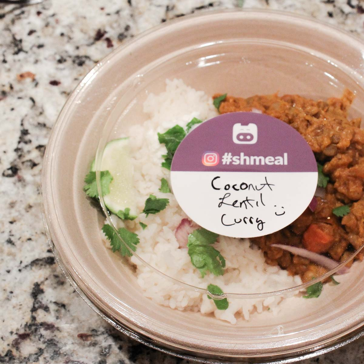 Coconut lentil curry in a Shmeal bowl