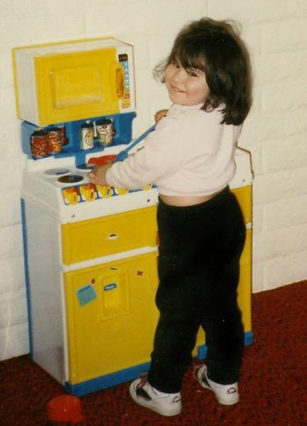 Maxine as a kid